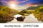 collage mountain river with... | Shutterstock . vector #239927188