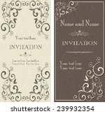 set of antique greeting cards ... | Shutterstock .eps vector #239932354
