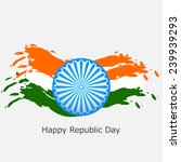 stylish indian republic day... | Shutterstock .eps vector #239939293