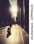 walking on the street of new...   Shutterstock . vector #239940124