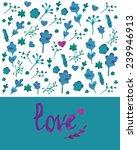 greeting card. vector...   Shutterstock .eps vector #239946913