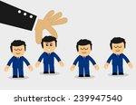 interim businessman in suit and ... | Shutterstock .eps vector #239947540