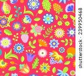 seamless flower multicolor... | Shutterstock .eps vector #239950468