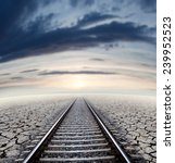 Travel Concept And Railway...