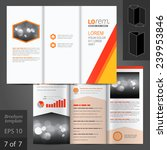 white vector brochure template... | Shutterstock .eps vector #239953846