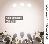 press conference template | Shutterstock .eps vector #239954926