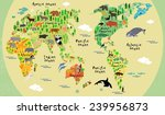 animal map of the world for... | Shutterstock .eps vector #239956873