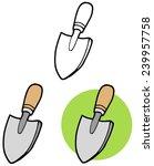 gardening tool small hand... | Shutterstock .eps vector #239957758