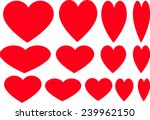 vector heart shape | Shutterstock .eps vector #239962150
