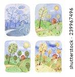 illustration of a landscape in... | Shutterstock . vector #239967496