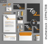 black stationery template... | Shutterstock .eps vector #239967508