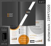black vector brochure template... | Shutterstock .eps vector #239972320
