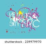 new york city vector art | Shutterstock .eps vector #239979970
