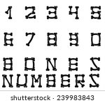 set of numbers made with bones... | Shutterstock .eps vector #239983843