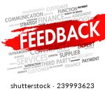 word cloud with feedback... | Shutterstock .eps vector #239993623