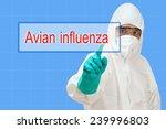 scientist in safety suit ... | Shutterstock . vector #239996803