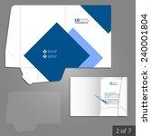 white folder template design... | Shutterstock .eps vector #240001804