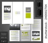white vector white brochure... | Shutterstock .eps vector #240002704