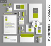white stationery template... | Shutterstock .eps vector #240002710