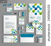 white stationery template... | Shutterstock .eps vector #240006103