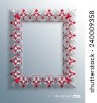 3d persian floral frame design... | Shutterstock .eps vector #240009358
