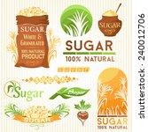 sugar decorative elements.... | Shutterstock .eps vector #240012706