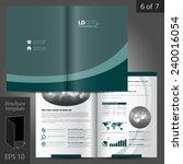 green vector brochure template... | Shutterstock .eps vector #240016054
