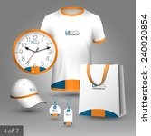 classic white promotional... | Shutterstock .eps vector #240020854