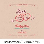 vintage valentines day greeting ... | Shutterstock .eps vector #240027748