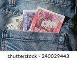 great britain pound banknotes... | Shutterstock . vector #240029443