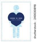 vector doodle circle water... | Shutterstock .eps vector #240030898