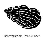 symbol tattoo of sea shell  | Shutterstock .eps vector #240034294
