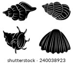 black silhouette collection of... | Shutterstock .eps vector #240038923