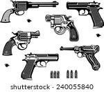 guns  old and modern | Shutterstock .eps vector #240055840