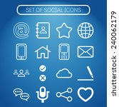 set of simple social icons | Shutterstock .eps vector #240062179