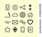 set of simple social icons | Shutterstock .eps vector #240062200