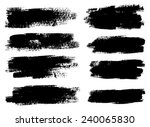 black ink vector stains | Shutterstock .eps vector #240065830