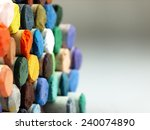 pastel crayons. the visible...   Shutterstock . vector #240074890
