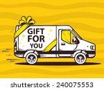 vector illustration of van free ...   Shutterstock .eps vector #240075553