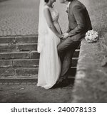 romantic newlyweds together | Shutterstock . vector #240078133