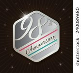 98th anniversary   classy and... | Shutterstock .eps vector #240089680