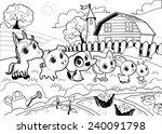 Funny Farm Animals In The...