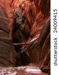 Slot Canyon in Buckskin Gulch, Arizona - stock photo