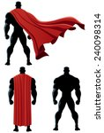back of superhero over white... | Shutterstock .eps vector #240098314