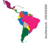 latin america | Shutterstock .eps vector #240106300