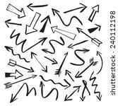 set of black vector arrows | Shutterstock .eps vector #240112198