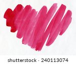 the stylized heart. watercolor. | Shutterstock . vector #240113074