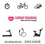 cardio training flat icons... | Shutterstock .eps vector #240116038