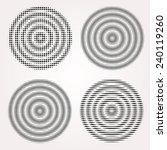 abstract vibrating circles... | Shutterstock .eps vector #240119260