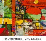 abstract painting  digital... | Shutterstock . vector #240121888